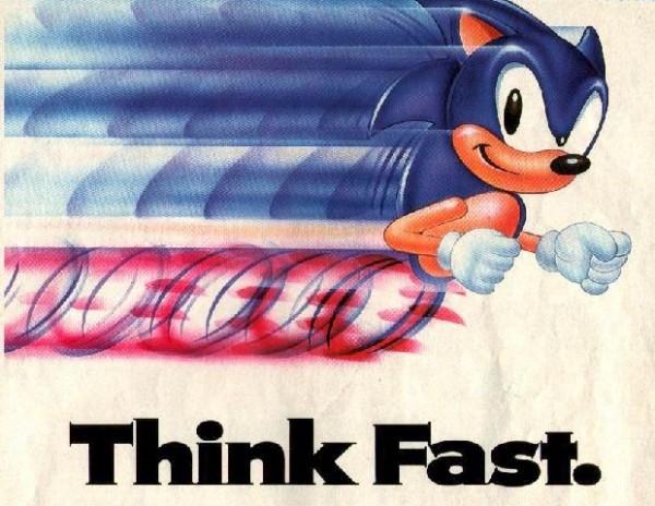 sonic sega think fast